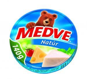 Medve Kockasajt 140 g natúr 8 cikkelyes