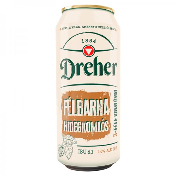 Dreher-Hidegkomlós-félbarna-sör-0,5-l-dobozos-full