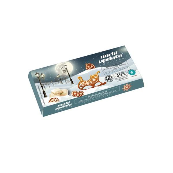 Norbi Update Low carb Fehércsokoládé mézeskalács ízű krémmel töltve, édesítőszerekkel 90g