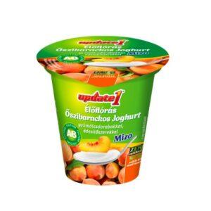 NORBI UPDATE Élőflórás őszibarackos joghurt gyümölcsdarabokkal, édesítőszerekkel 125g