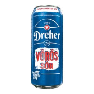 Dreher 24 vörös sör 0,5 l alkoholmentes, dobozos